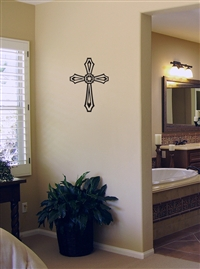 Stained Glass Cross Wall or Car Decal Sticker