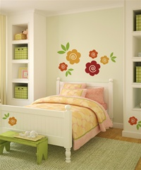 Swirly Flowers wall decals stickers