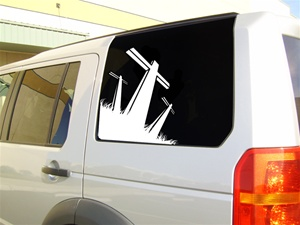 Trinity Cross car decal sticker