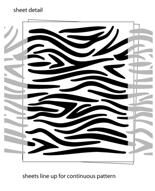 Zebra Stripe Wall Decals Stickers - Zebra stripe wall decals