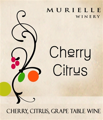 Cherry Citrus Wine By Murielle Winery