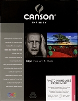 "Canson-Infinity Photo HighGloss Premium RC 315gsm 8.5""x11"" - 25 Sheets"