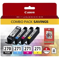 "Canon PGI-270/CLI-271 Inks & 50 Sheets of 4""x6"" Canon Glossy Paper"