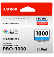 Canon PFI-1000 Cyan Ink Tank 80ml for imagePROGRAF PRO-1000