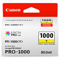 Canon PFI-1000 Yellow Ink Tank 80ml