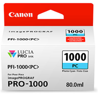 Canon PFI-1000 Photo Cyan Ink Tank 80ml for imagePROGRAF PRO-1000
