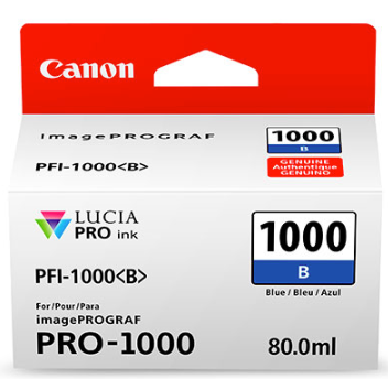 Canon PFI-1000 Blue Ink Tank 80ml for imagePROGRAF PRO-1000