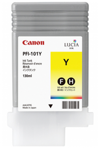 Canon PFI-101Y Yellow Ink Tank (130ml) for iPF5000, iPF5100, iPF6000S, iPF6100, iPF6200 (LIMITED STOCK AVAILABLE)