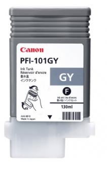 Canon PFI-101GY Gray Ink Tank (130ml) for imagePROGRAF iPF5000, iPF6000, iPF6000S