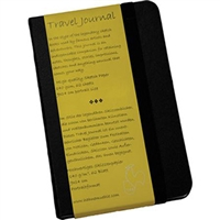 "Hahnemuhle Travel Journal, 140 gsm Black hard cover 3.5"" x 5.5"" 62 sheets (PORTRAIT)"
