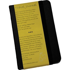 "Hahnemuhle Travel Journal 140gsm Black hard cover 5.3""x8.3"" 62 sheets (PORTRAIT)"