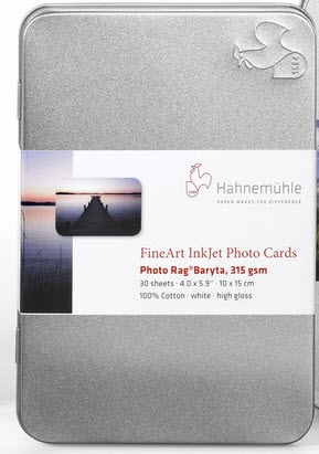 Hahnemuhle FineArt Baryta 4inx6in Inkjet Cards