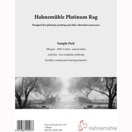 "Hahnemuhle Platinum Rag 300gsm Sample Pack 8.5""x11"" - 5 Sheets"