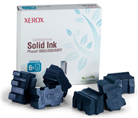 Xerox Phaser 8860/8860MFP Cyan Solid Ink Pack (6 Sticks)