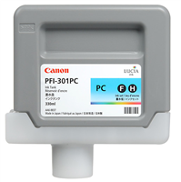 Canon PFI-301PC Photo Cyan Ink Tank (330ml) for imagePROGRAF iPF8000, iPF8000S, iPF8100, iPF9000, iPF9000S, iPF9100 - 1490B001AA