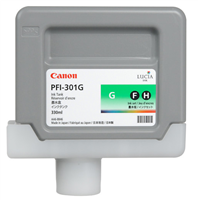 Canon PFI-301G Green Ink Tank (330ml) for imagePROGRAF iPF8000, iPF8100, iPF9000, iPF9100 - 1493B001AA