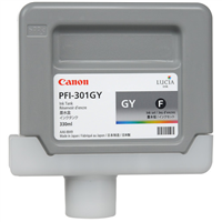 Canon PFI-301GY Gray Ink Tank (330ml) for imagePROGRAF iPF8000, iPF8000S, iPF9000, iPF9000S - 1495B001AA