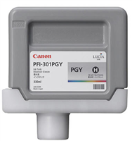 Canon PFI-301PGY Photo Gray Ink Tank (330ml) for imagePROGRAF iPF8000, iPF8000S, iPF8100, iPF9000, iPF9000S, iPF9100 - 1496B001AA