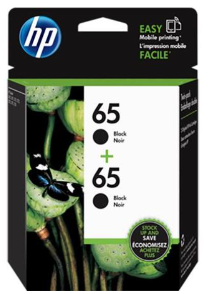 HP 65 2-pack Black Ink Cartridges