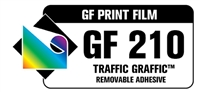 "GF 210 Traffic Graffic 3.4 mil - Matte White ""Floor Advertising"" Vinyl 5 yr 54""x150' Roll"