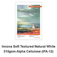 "Innova Soft Texture Natural White 315gsm 8.5""x11"" -10 Sheets (ships from IL warehouse)"