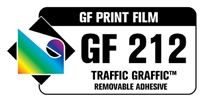 "GF 212 Traffic Graffic 3.4 mil - Matte White ""Carpet Advertising"" Vinyl 5 yr 54""x150' Roll"