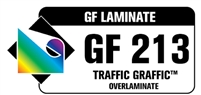 "GF 213 Traffic Graffic 3.75 mil Matte Textured Clear Polypropylene Floor Laminate 54""x150' Roll"