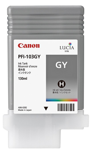 Canon PFI-103GY Gray Ink Tank (130ml) for imagePROGRAF iPF5100, iPF6100, iPF6200