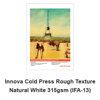 "Innova Cold Press (Rough Texture) 315gsm 8.5""x11"" -10 Sheets (ships from IL warehouse)"