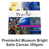 "PremierArt Museum Bright Satin Canvas 19mil 350g 11""x17"" - 10 Sheets"