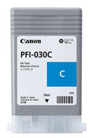Canon PFI-030C - 55ml Cyan Ink for imagePROGRAF TA-20, TA-30