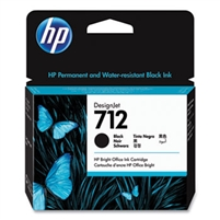 HP 712 80-ml Black DesignJet Ink Cartridge for T210, T230, T250, T630, T650