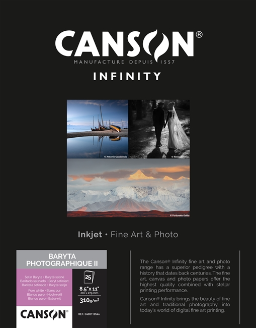 "Canson-Infinity Baryta Photographique II 310gsm 8.5""x11"""