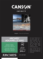 "Canson Infinity ARCHES Aquarelle Rag 310gsm Matte 5""x7"" - 25 Sheets"
