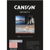 "Canson Infinity ARCHES 88 310gsm Matte 3"" Core 24""x10' Sample Roll"