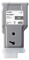Canon PFI-206GY Gray Ink Tank (300ml) for imagePROGRAF iPF6400, iPF6400S, iPF6450 - 5312B001AA