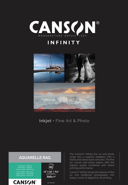 Canson Infinity Aquarelle Rag 240gsm A3 - 25 Sheets