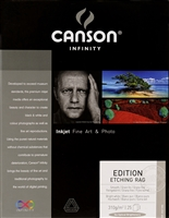 "CANSON INFINITY Edition Etching Rag 310gsm 17""x22"" - 25 Sheets"