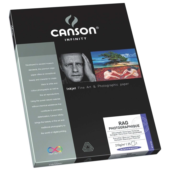 "Canson Infinity Rag Photographique Duo 220gsm 8.5""x11"" - 25 Sheets"