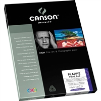 "Canson Infinity Platine Fibre Rag 310gsm Satin 11""x17"" - 25 Sheets"