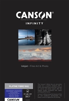 "Canson Infinity Platine Fibre Rag 310gsm Satin A3+ 13""x19"" - 25 Sheets"