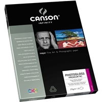"Canson Infinity PhotoGloss Premium RC 270gsm 8.5""x11"" - 25 sheets"