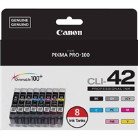 Canon CLI-42 Color Ink Value Pack (8 Ink Tanks) for PIXMA PRO-100 - 6384B007