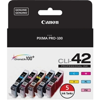 Canon CLI-42 Ink Value Pack (5 Ink Tanks) for PIXMA PRO-100