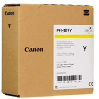 Canon PFI-307Y Yellow Ink Tank (330ml) for imagePROGRAF iPF830, iPF840, iPF850 - 9814B001AA