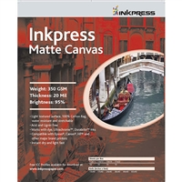 "INKPRESS Matte Canvas 8.5""x11"" 10 Sheets"