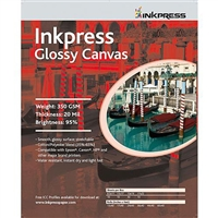 "INKPRESS Glossy Canvas 350gsm 13""x19"" 10 Sheets"