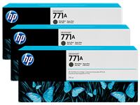 HP 771 3-pack 775-ml Ink Cartridge - Matte Black