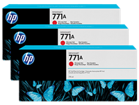 HP 771 3-pack 775-ml Ink Cartridge - Chromatic Red