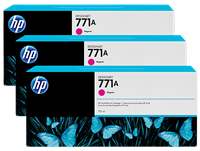 HP 771 3-pack 775-ml Ink Cartridge - Magenta